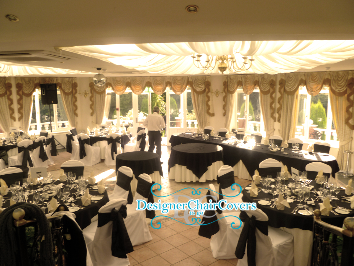 Black And White Wedding Theme With Some Heavy Metal Fun Designer