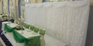 Starlight Backdrop wedding & Candelabra