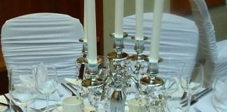 5 arm candelabra centrepiece for wedding
