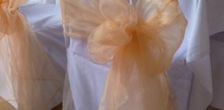 orange organza sash
