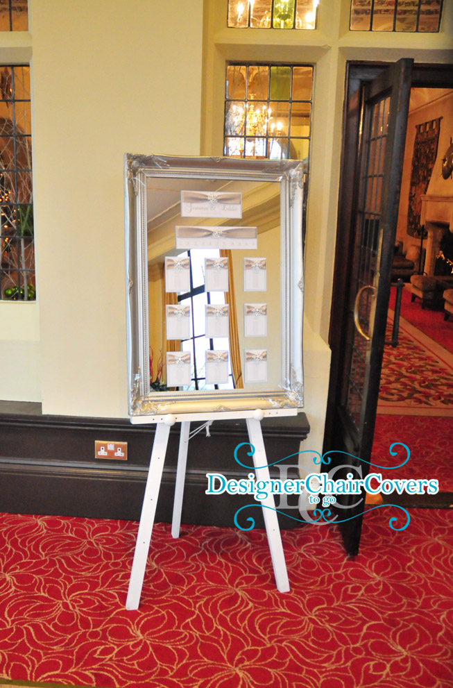 easel hire mirror table plan
