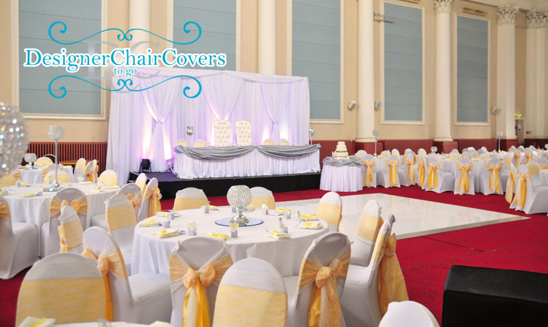 The corn exchange in maidstone chair covers and stunning wedding decor weddings corn exchange chair covers backdrop junglespirit Choice Image