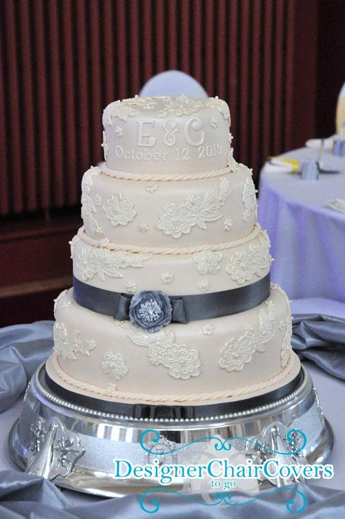 silver cake pretty