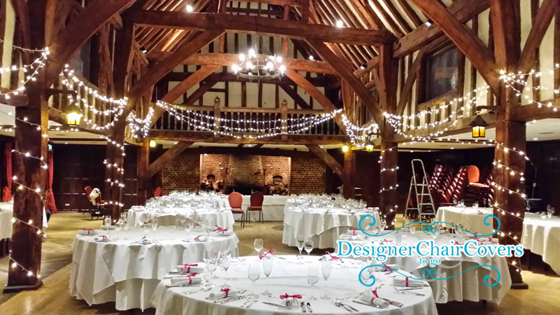 Great fosters wedding in surrey barn lighting chiavari chairs great fosters wedding chair covers chair hire decorations junglespirit Images