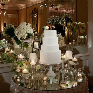 mirror cake table