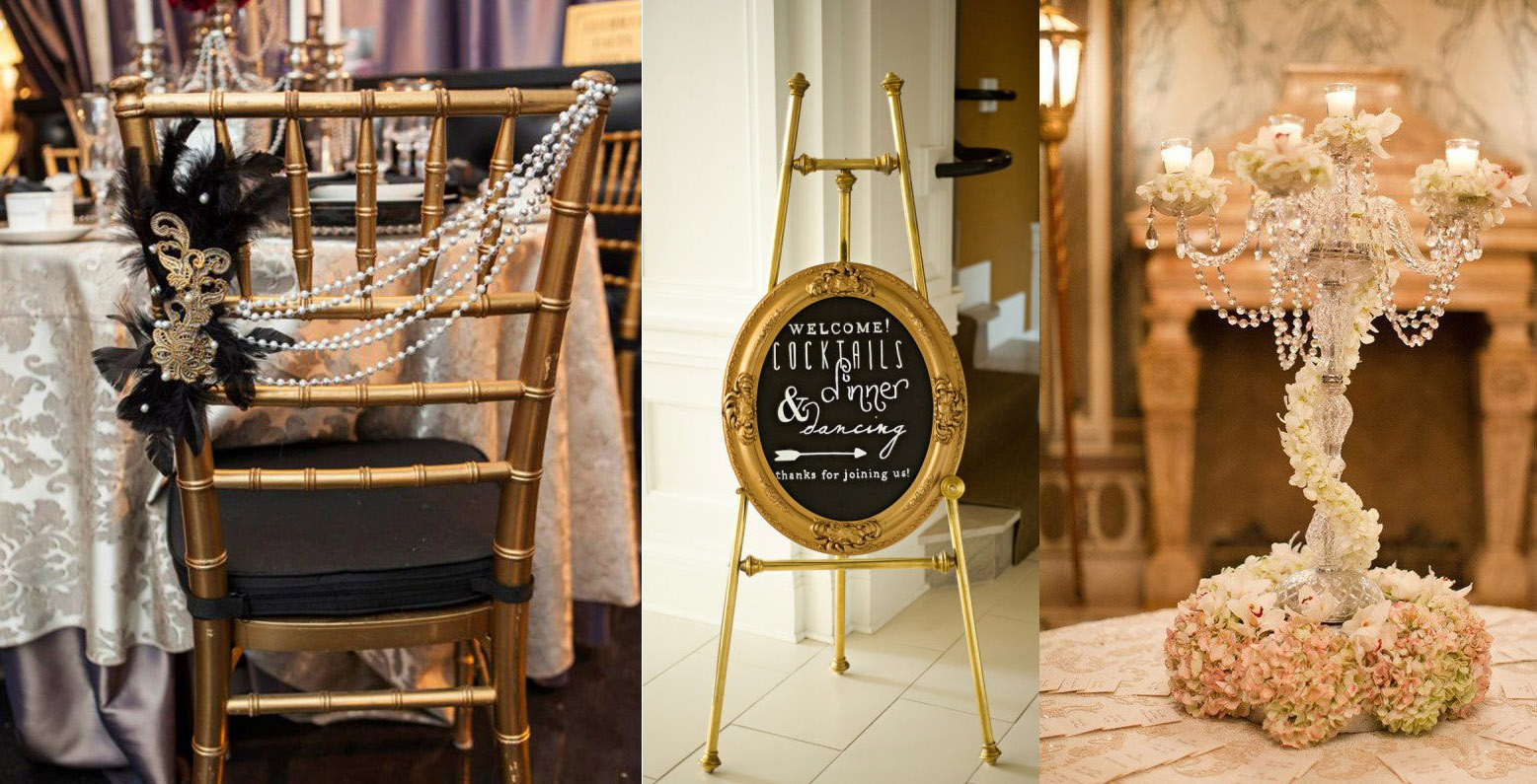 The great gatsby wedding decor inspiration and ideas for Great decor