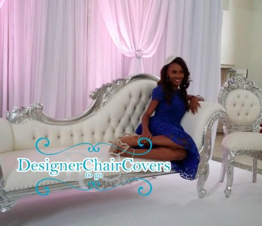 silver sofa nigerian wedding