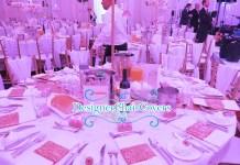 sequin wedding table