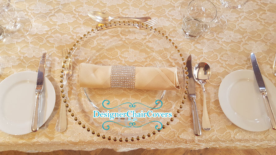 charger plates wedding