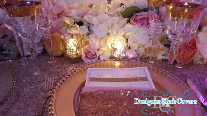 gold placesetting luxury