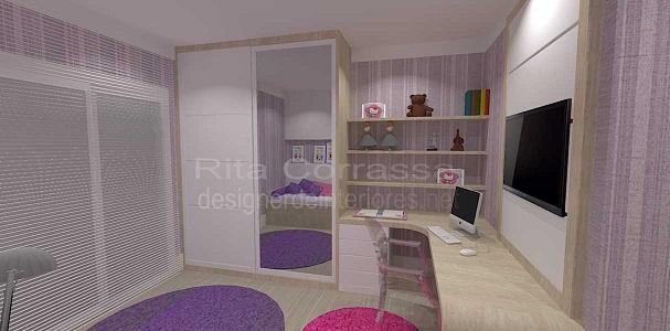 quarto de menina rosa e lilas