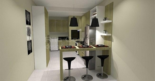 projeto de cozinha sob medida