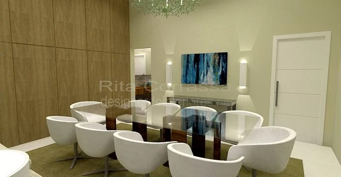sala de luxo projeto de jantar
