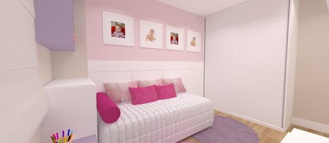 projeto de dormitorio de menina rosa