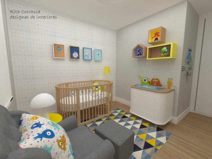 dormitorio de bebe decoracao de monstrinho