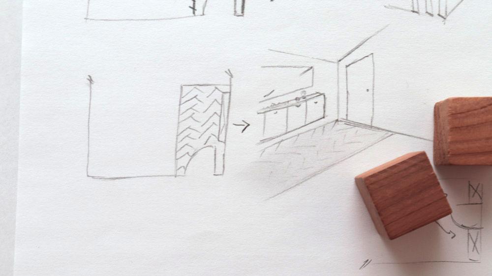 dessin d'architeture d'intérieur