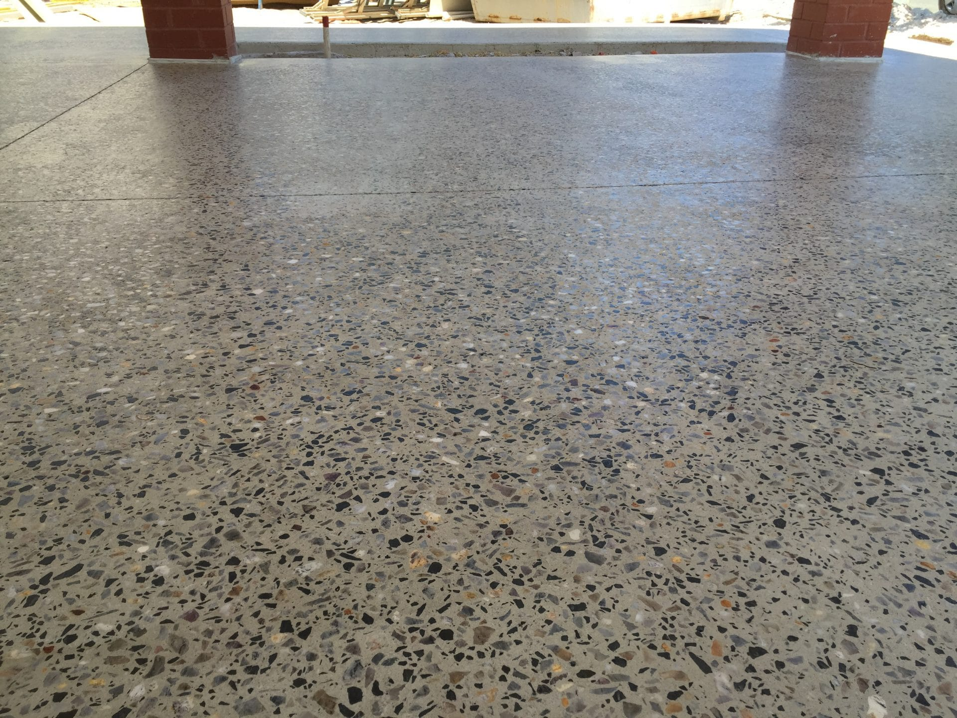 Outdoor Polished Concrete Floors