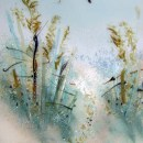 """""""Path to the Beach"""" Themed Fused Glass Art Panel"""