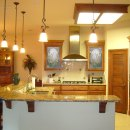Kitchen Cabinets with Floral Panels