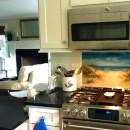 Fused Glass Beach Scene Kitchen Backsplash