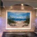 Fused Glass Beach Scene
