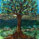 Glass Mural (Tree Motif)