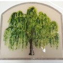 Weeping Willow Tree Mural in Fused Glass