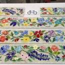 Floral Glass Mosaic Border for Bathroom