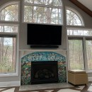 Floral Mosaic Fireplace Surround