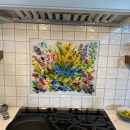Fused Glass Floral Mural