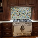 Floral Mosaic Kitchen Mural