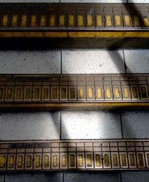 Steps in tube station