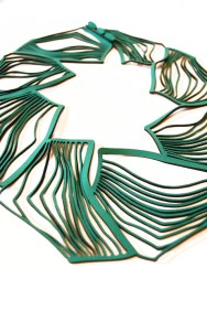 Jelka Quintelier - Black Lune - Eldis Green necklace - laser cut neoprene