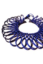 Jelka Quintelier - Black Lune - Taringa Blue necklace - laser cut neoprene