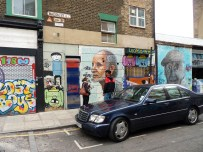 Inspiration - Street covered in graffiti in London