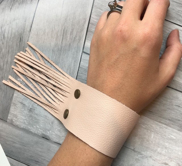 Fringe Leather Strap from 48 North Designs