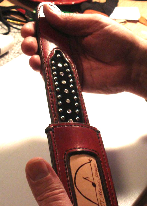 Unique Guitar Strap built by CT Music Straps and distributed by Designer Leatherworks for Recording Artist Norah Jones