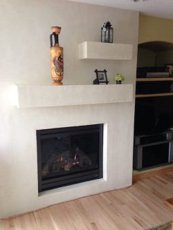 Here is the new fireplace!