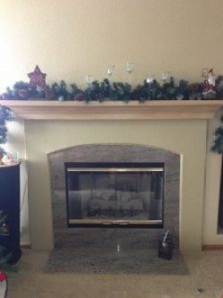 Here is the before photo of the fireplace.