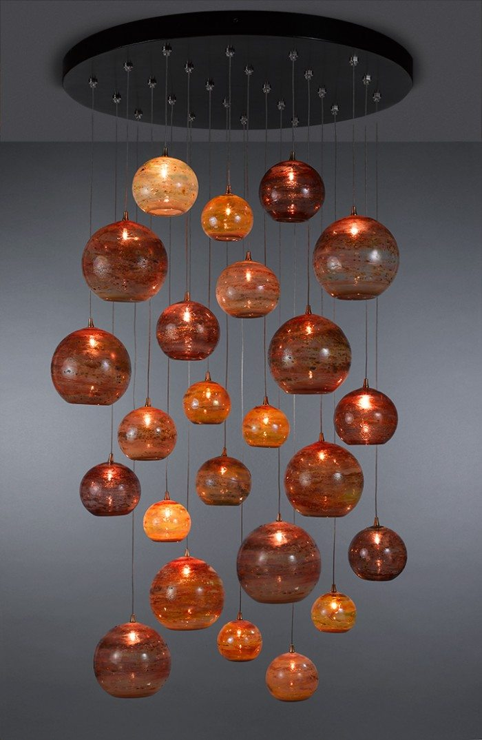 (Pictured Above: Fireball) We would like to invite you to come to the showroom and view the beautiful Shakuff fixtures we have on display. Located at 240 Kalamath, Image Complete has the most interesting and unique showroom in Denver.   We have both fixtures and glass samples to view to make sure the color is the exact one for your overall lighting design.