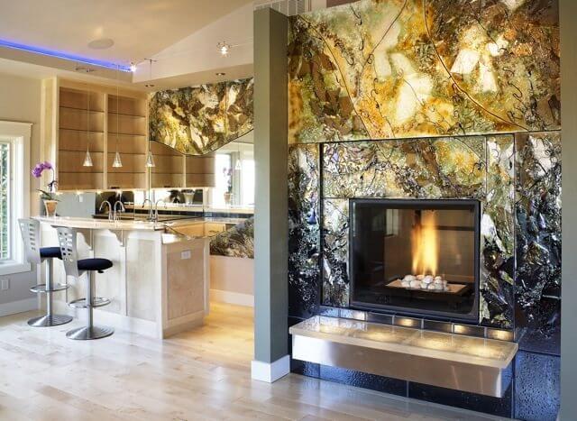 Glass Artisan Susie Zeitner created this stunning glass panel design