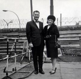Mom & Dad at the Berlin Wall, 1965