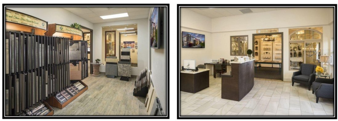 Visionmaker Design Center showing flooring selections and cabinetry