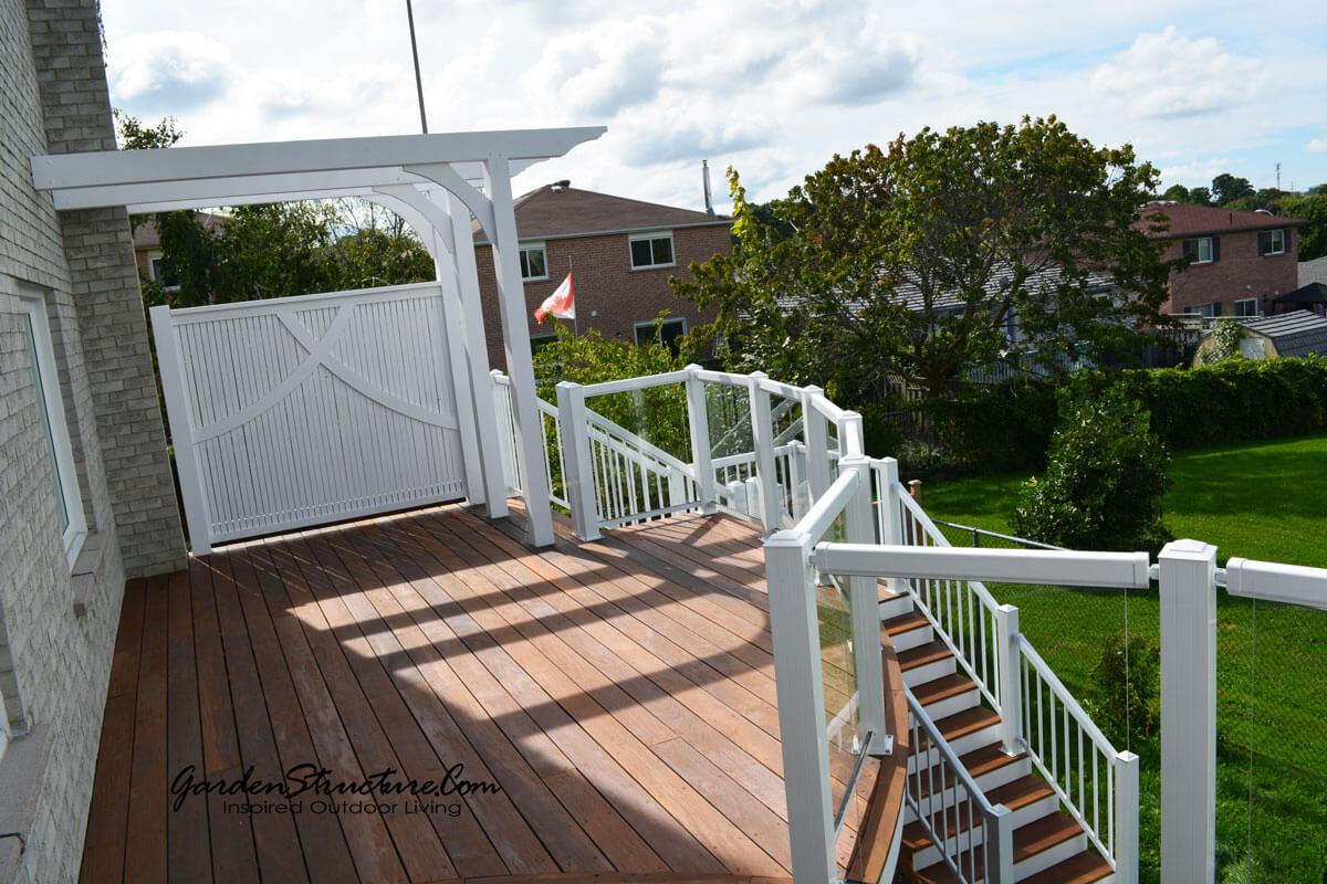 Aurora - Curved hardwood decks with inlays