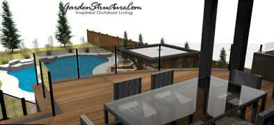 Rendering -- view from on this showpiece deck