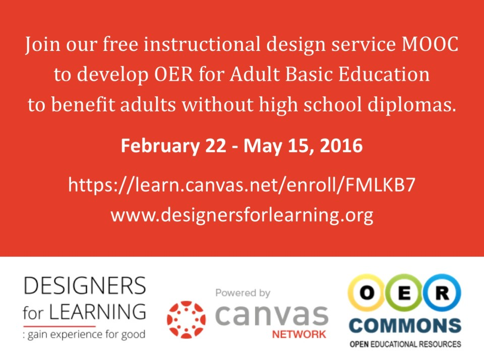 Designers for Learning Service MOOC