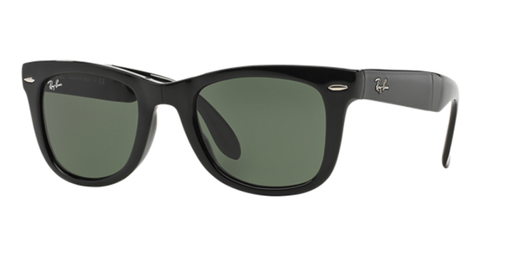 Ray Ban Folding Wayfarer Sunglasses RB4105 601 Black