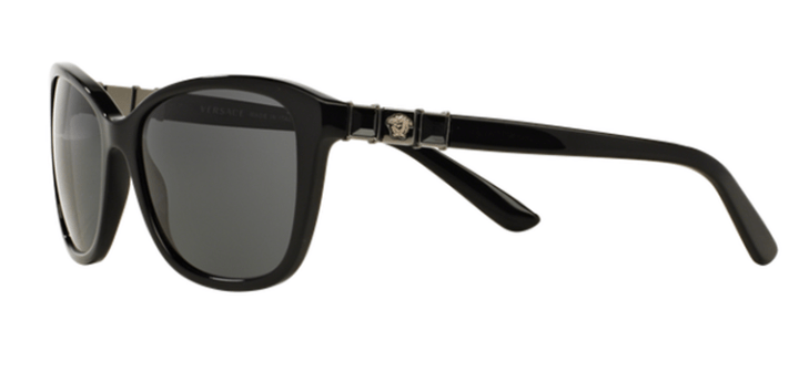 Versace Cat Eye Sunglasses VE4293B GB1/87 Black with grey lens