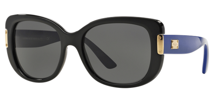 Ladies Versace Sunglasses VE4311 GB187 Black with gray lens