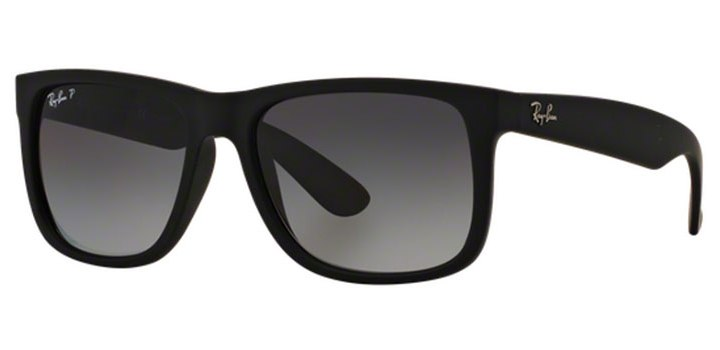 Ray Ban Justin Polarized Sunglasses RB4165 622T3 Black Rubber